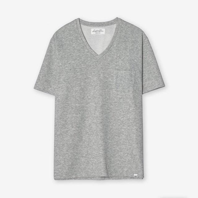 <span>Cotton&Silk V-neck T-shirts / Grey</span>コットン&シルク VネックTシャツ / グレー