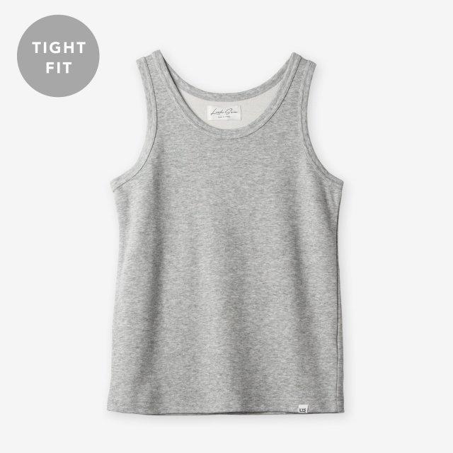 <span>Cotton&Silk Tank-top / Grey</span>【TIGHT FIT】コットン&シルク タンクトップ / グレー