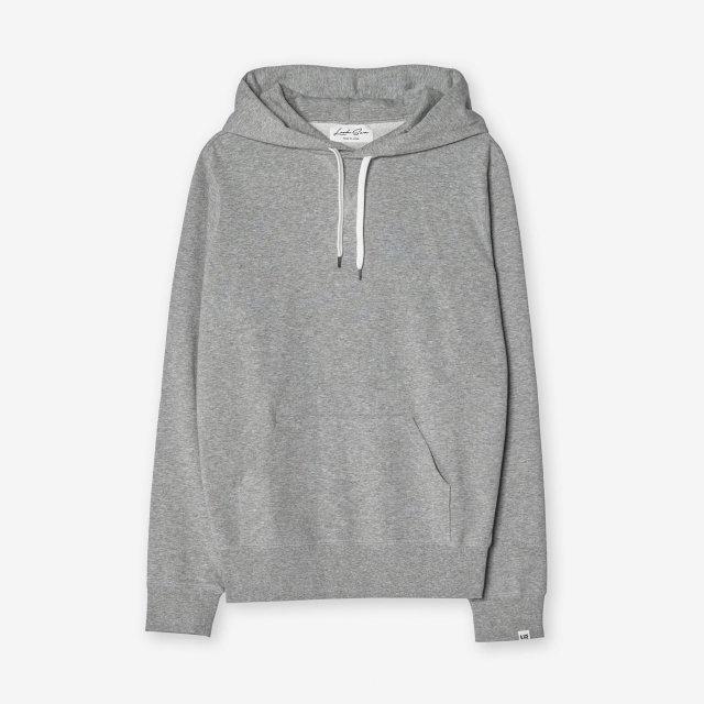 <span>Cotton&Silk Pullover Sweat Hoody / Grey</span>コットン&シルク プルオーバースウェットパーカー / グレー