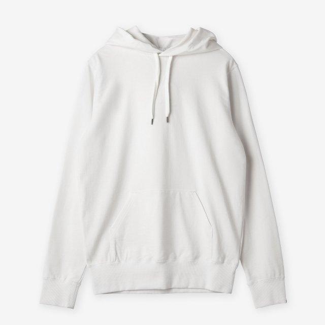 <span>Silk&Cotton Pullover Sweat Hoody / White</span>シルク&コットン プルオーバースウェットパーカー / ホワイト