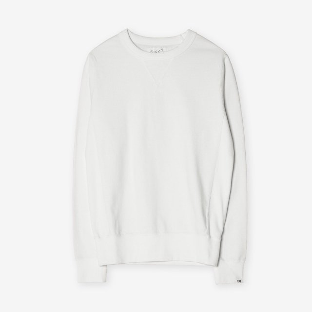 <span>Silk&Cotton Crew-neck Sweat Shirts / White</span>シルク&コットン クルーネックスウェット / ホワイト