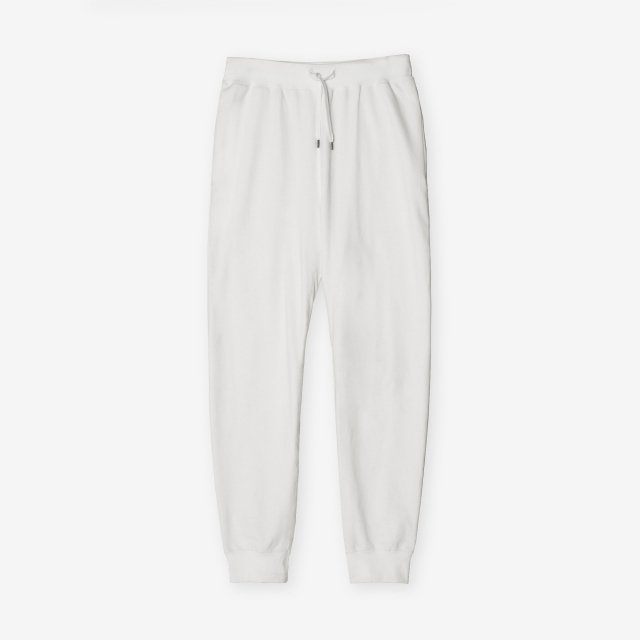 <span>Cotton&Silk Sweat Pants / White</span>コットン&シルク スウェットパンツ / ホワイト