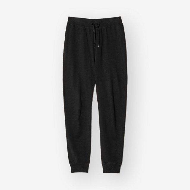 <span>Cotton&Silk Sweat Pants / Black</span>コットン&シルク スウェットパンツ / ブラック