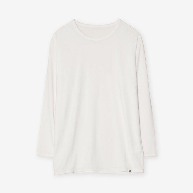 <span>Silk Inner Crew-neck three quarter sleeve / White</span>シルク インナークルーネック7分袖Tシャツ / ホワイト