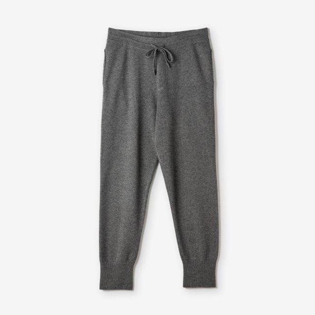 <span>Silk&Cashmere Milano Rib Pants / Charcoal Grey</span>シルク&カシミア ミラノリブ ニットパンツ / チャコールグレー
