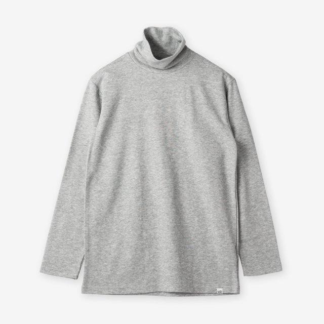 <span>Cotton&Silk Turtle-neck Long Sleeve / Grey</span>コットン&シルク タートルネック長袖Tシャツ / グレー