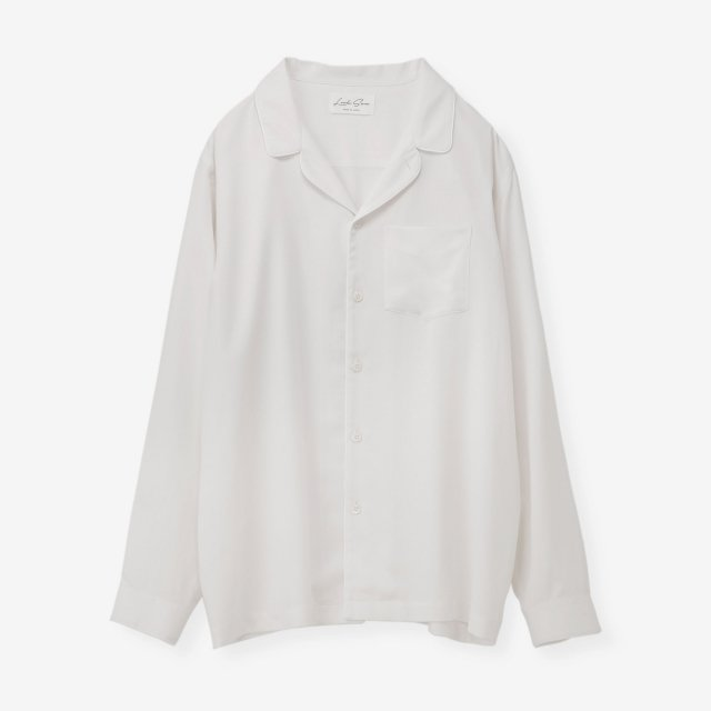 <span>Silk Pajama Shirts / White End on End</span>シルク パジャマシャツ / ホワイト無地