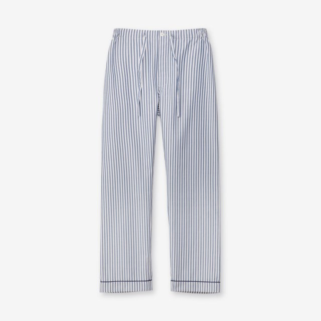 <span>Silk Pajama Pants / Stripe Navy&White</span>シルク パジャマパンツ / ストライプ ネイビー&ホワイト