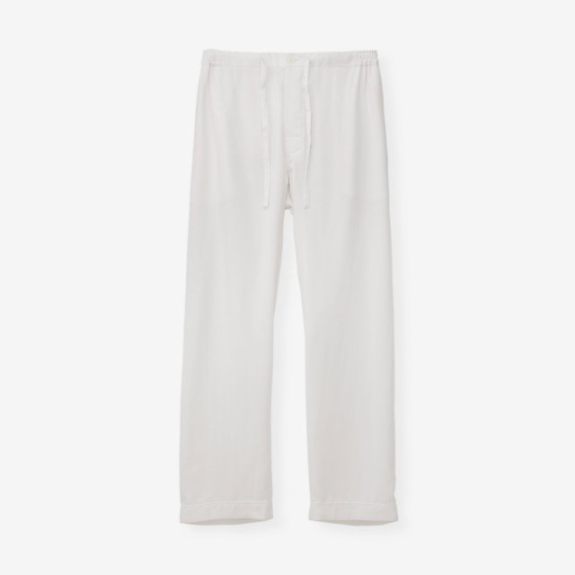 <span>Silk Pajama Pants / White End on End</span>シルク パジャマパンツ / ホワイト無地