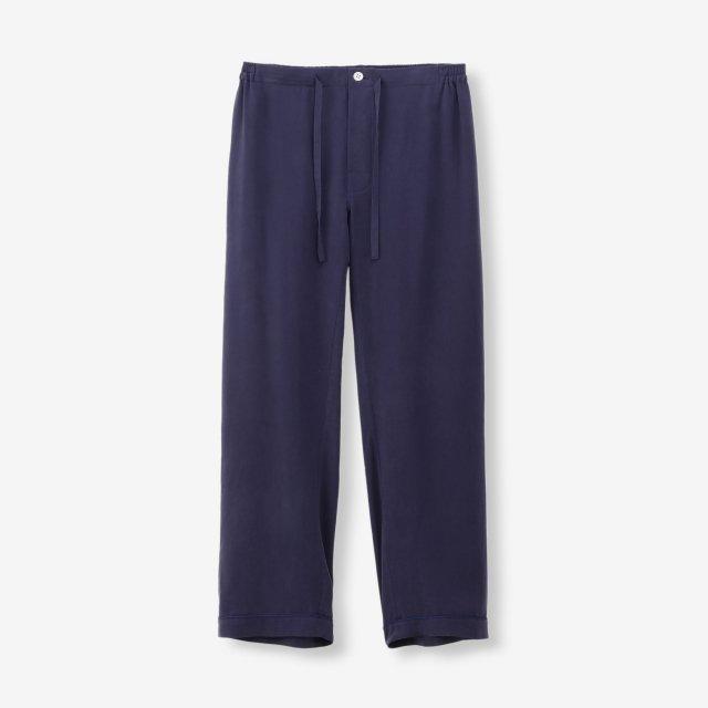 <span>Silk Pajama Pants / Navy End on End</span>シルク パジャマパンツ / ネイビー無地