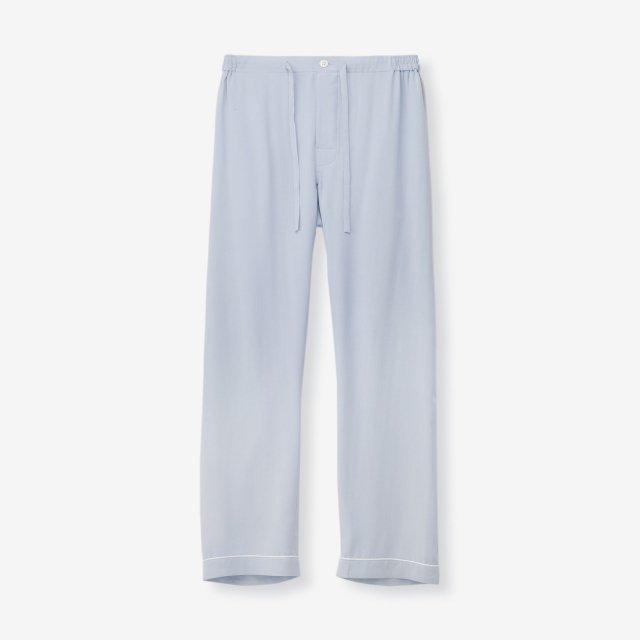 <span>Silk Pajama Pants / Sax</span>シルク パジャマパンツ / サックス無地