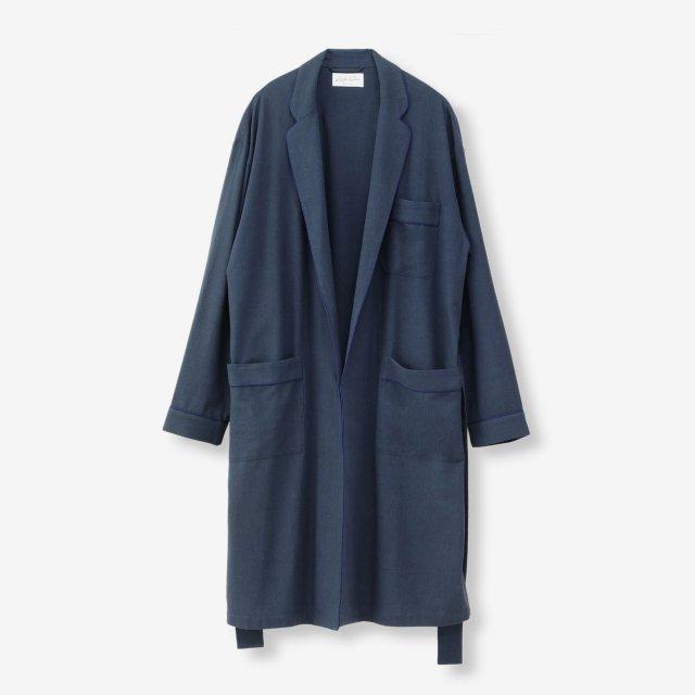 <span>Silk Gown Court / Navy</span>シルク ガウンコート / ネイビー