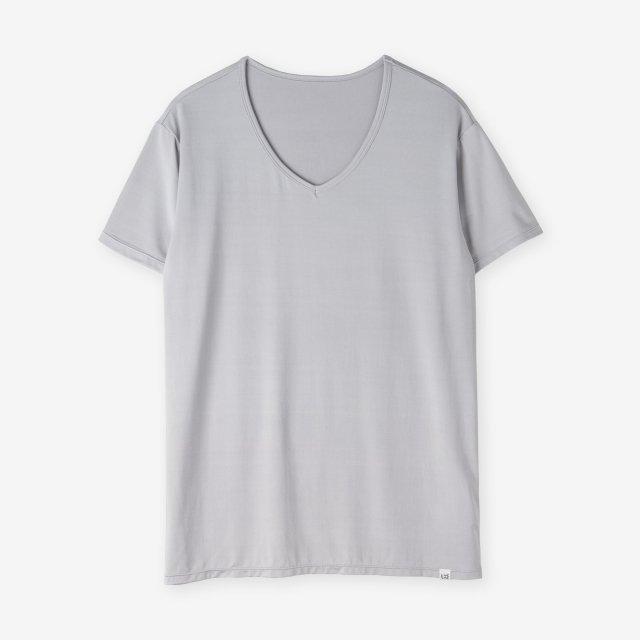 <span>Silk Inner V-neck T-shirts / Light grey </span>シルク インナーVネックTシャツ / ライトグレー