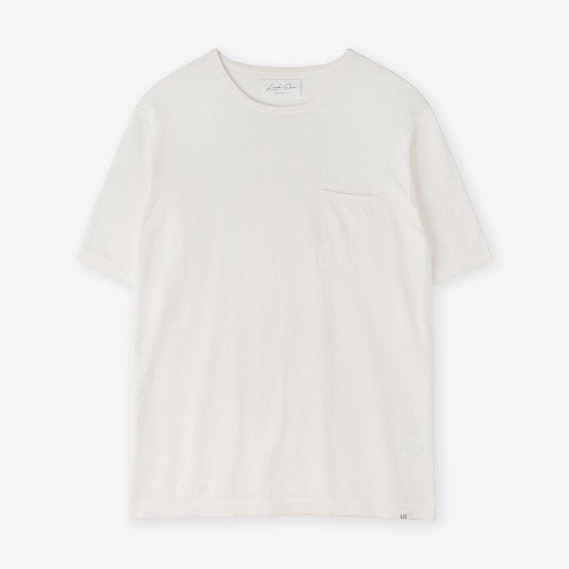 <span>Silk&Cotton&Cashmere Knit T-shirts / Off-White</span>シルク&コットン&カシミア ニットTシャツ / オフホワイト