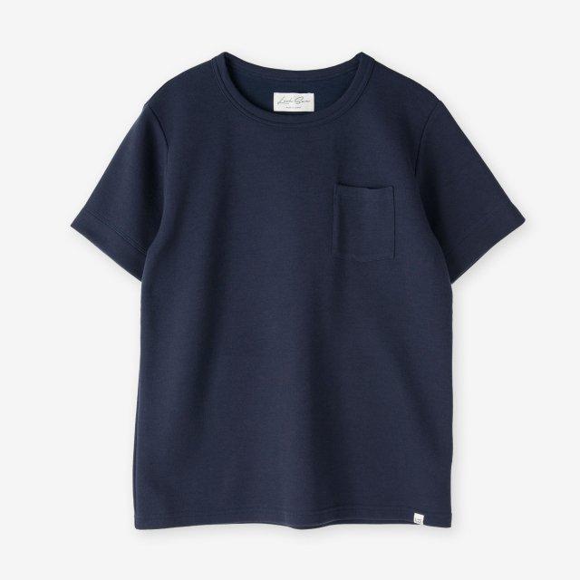 <span>Silk&Cotton Crew-neck T-shirts / Navy</span>シルク&コットン クルーネックTシャツ / ネイビー
