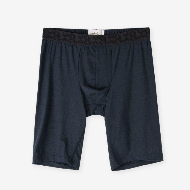 <span>Silk Inner Long Boxer Briefs / Navy</span>シルク ロングボクサーブリーフ / ネイビー