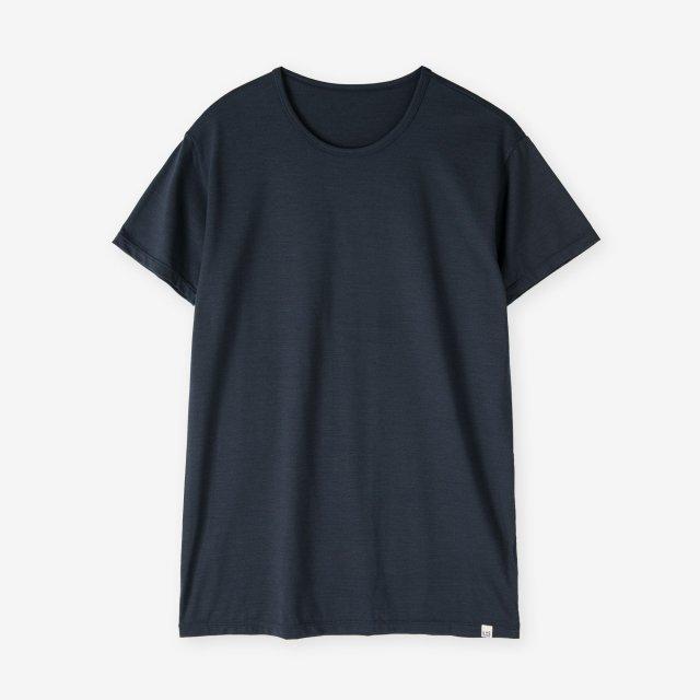 <span>Silk Inner Crew-neck T-shirts / Navy</span>シルク インナークルーネックTシャツ / ネイビー