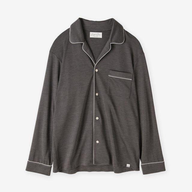 <span>Spun Silk Pajama Shirts / Chacoal Grey</span>絹紡シルク パジャマシャツ / チャコールグレー