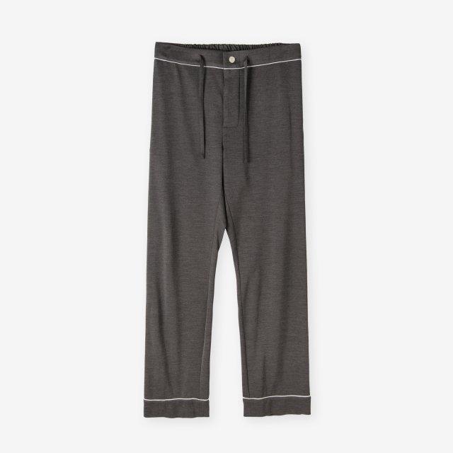 <span>Spun Silk Pajama Pants / Chacoal Grey</span>絹紡シルク パジャマパンツ / チャコールグレー