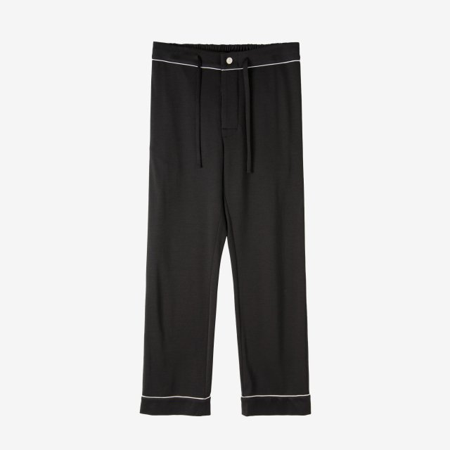 <span>Spun Silk Pajama Pants / Black</span>絹紡シルク パジャマパンツ / ブラック