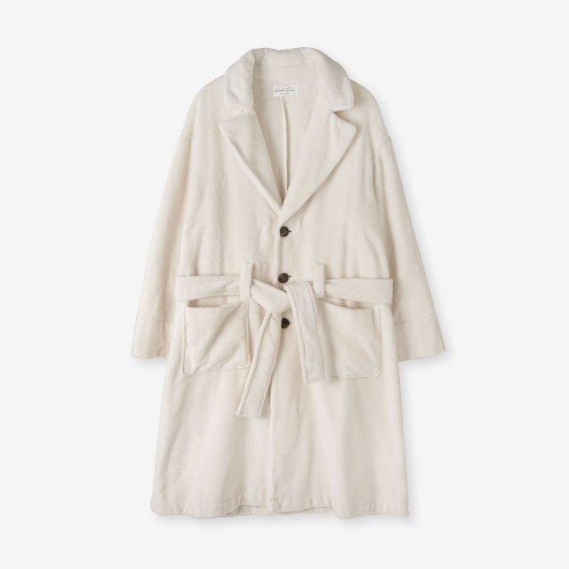 <span>Silk Boa Gown / White</span>シルク 両面起毛ガウン / ホワイト