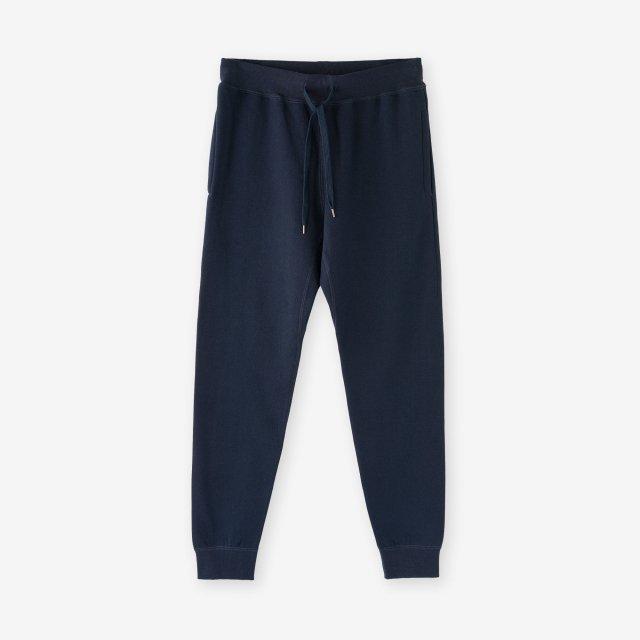 <span>Cotton&Silk Brushed Sweat Pants / Navy</span>コットン&シルク 裏毛起毛スウェットパンツ / ネイビー