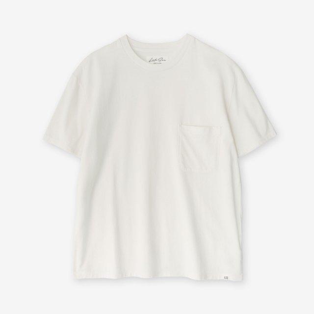 <span>Cotton&Silk Crew-neck Jersey T-shirts / Off White</span>コットン&シルク クルーネック天竺Tシャツ / オフホワイト
