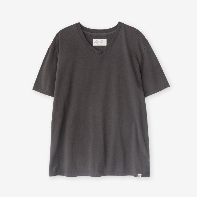 <span>Cotton&Silk V-neck Jersey T-shirts / C.Grey</span>コットン&シルク Vネック天竺Tシャツ / チャコールグレイ