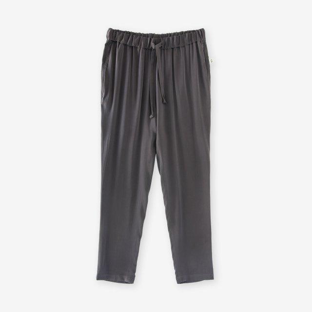 <span>Silk Easy Pants / Charcoal Grey</span>シルク イージーパンツ / チャコールグレイ