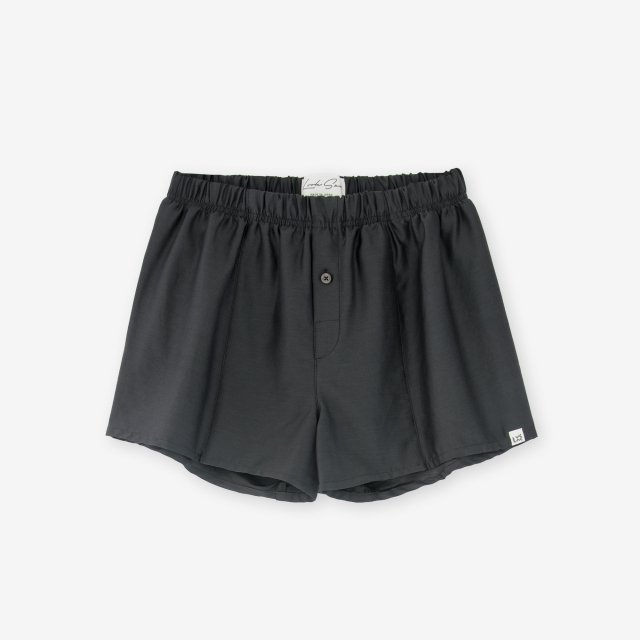 <span>Silk Boxer Shorts / Charcoal Grey</span>シルク トランクス / チャコールグレイ