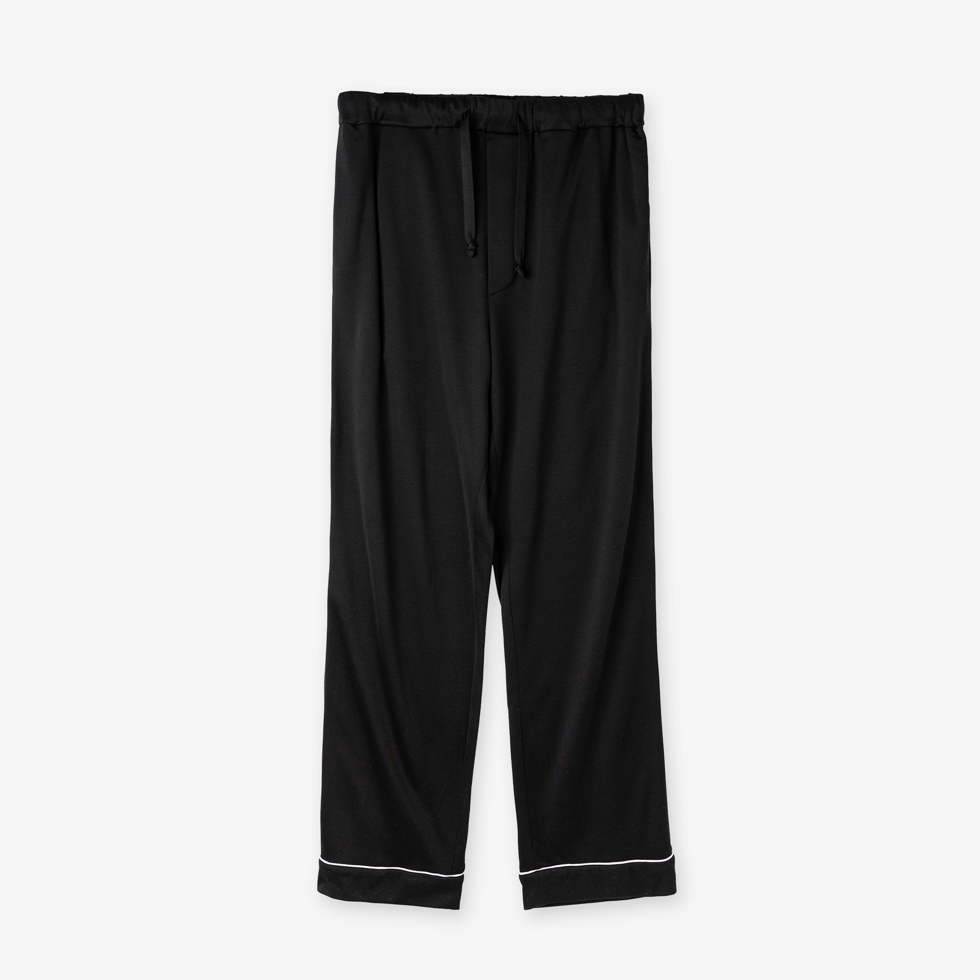 絹紡シルク パジャマパンツ / ブラック