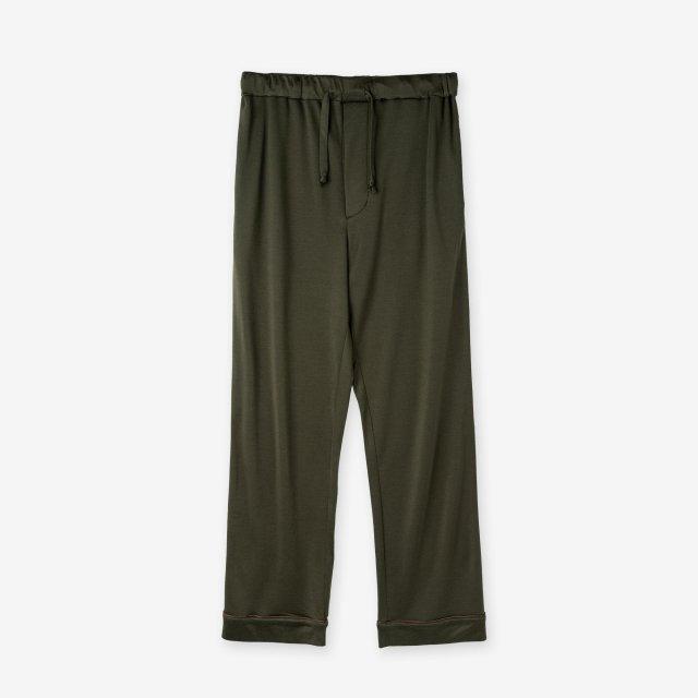 <span>Spun Silk Pajama Pants / Khaki</span>絹紡シルク パジャマパンツ / カーキ