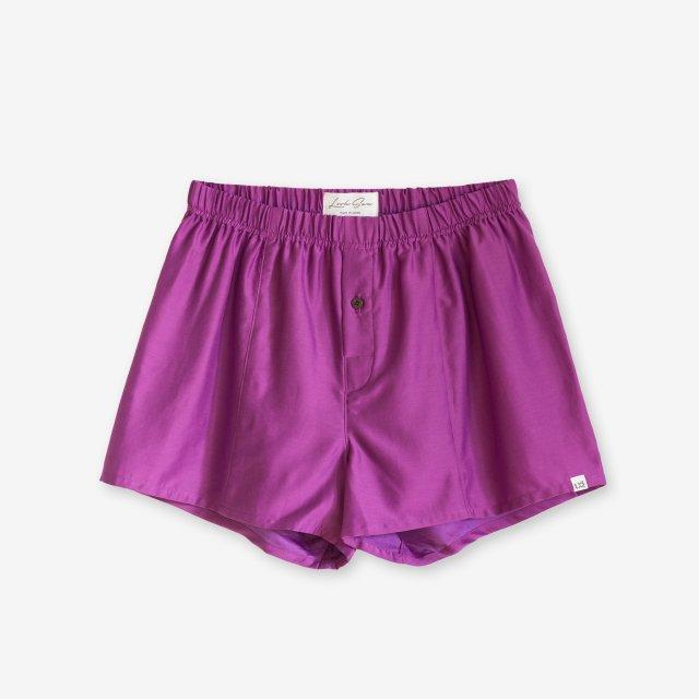 <span>Silk Boxer Shorts / Purple</span>シルク トランクス / パープル