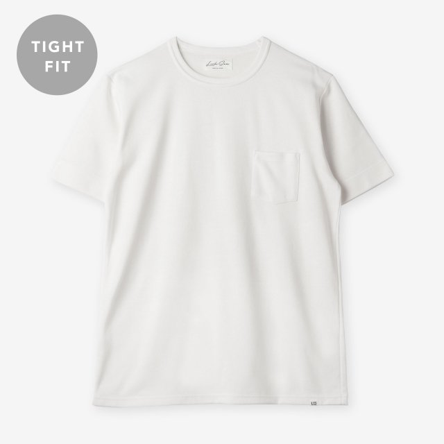 <span>Silk&Cotton Crew-neck T-shirts / White</span>【TIGHT FIT】シルク&コットン クルーネックTシャツ / ホワイト