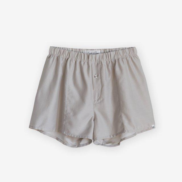 <span>Silk Boxer Shorts / Light Grey</span>シルク トランクス / ライトグレー