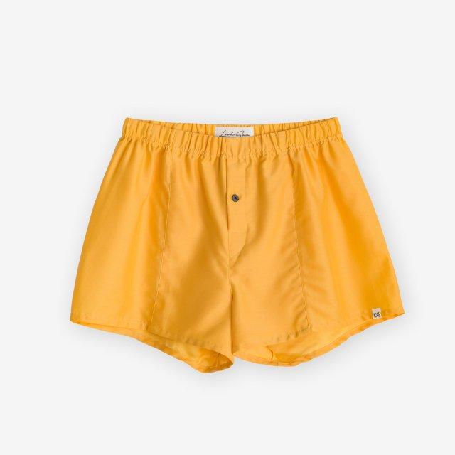 <span>Silk Boxer Shorts / Yellow</span>シルク トランクス / イエロー