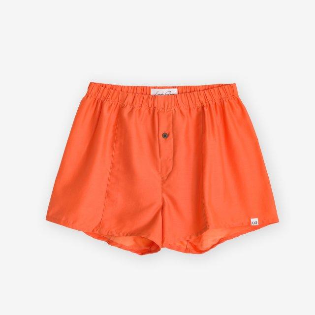 <span>Silk Boxer Shorts / Orange</span>シルク トランクス / オレンジ