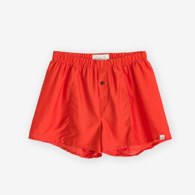 <span>Silk Boxer Shorts / Red</span>シルク トランクス / レッド