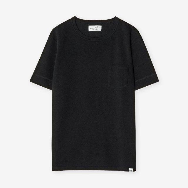 <span>Cotton&Silk Crew-neck T-shirts / Black</span>コットン&シルク クルーネックTシャツ / ブラック