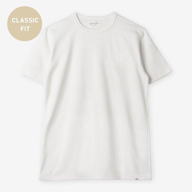 <span>Silk&Cotton Crew-neck T-shirts / White</span>【CLASSIC FIT】シルク&コットン クルーネックTシャツ / ホワイト