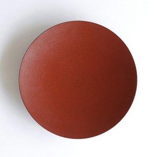 赤木明登作 天廣皿6.5寸・赤