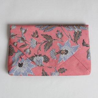 手描きジャワ更紗 Reisia  数寄屋袋『hibis』