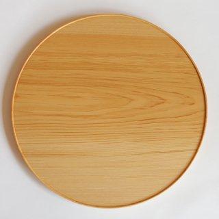 紀平佳丈作 檜丸盆 尺(ガラスコーティング)A
