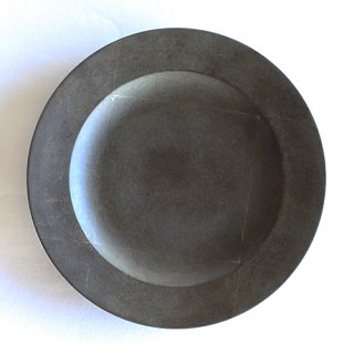 赤木明登作 デザート皿・古銀