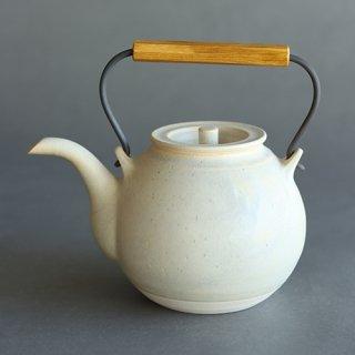 角掛政志作 耐火土瓶(白)