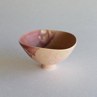 竹村良訓作 ピンクの三角な小鉢