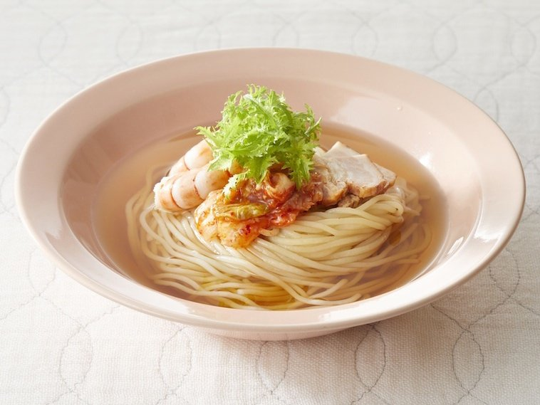 夏季限定品!【 三陸椿冷麺(2食入スープ付)5個セット 】甘酸っぱい爽やかなスープ で食べる ツルッとした 食感が美味しい 冷麺