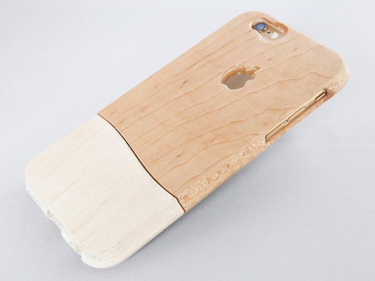 《オーダーメイド》    【 ウッドケース for iPhone ホワイト】握り易く 木製 スマホケース 無垢材から削り出す 天然木 全機種 対応!   機種限定 無料修理保証!