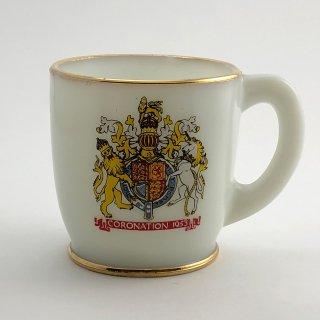 A-002 Antique Cup Elizabeth II Coronation mug 1953, Collectible Mug,