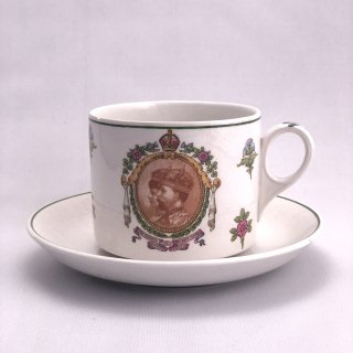 B-017 George V, Qeen  Mary coronation Cup&Saucer Set